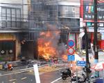 Video khoảnh khắc nhân viên điện lực cứu 2 bé thoát khỏi vụ cháy cửa hàng gas