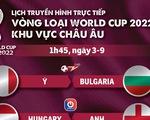 Lịch trực tiếp vòng loại World Cup 2022 châu Âu: Ý, Anh, Đức và Tây Ban Nha ra sân