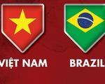 Lịch trực tiếp tuyển futsal Việt Nam gặp Brazil ở World Cup 2021