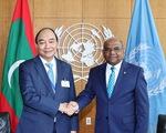 Gặp Chủ tịch nước Nguyễn Xuân Phúc, Tổng thư ký LHQ cam kết hỗ trợ chống dịch