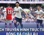 Lịch trực tiếp bóng đá châu Âu 26-9: Arsenal - Tottenham, Barca và Juventus thi đấu
