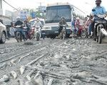 Té xe hàng loạt vì bùn đổ nhầy nhụa quốc lộ
