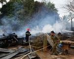 Cháy đồn công an cửa khẩu Đensavan, biên phòng Lao Bảo ứng cứu