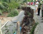 Đường bờ bao vườn quốc gia U Minh Thượng sạt lở