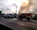 Tông liên hoàn, xe ô tô cháy rụi trên quốc lộ 1A