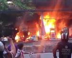 Cháy cây xăng trên đường Quang Trung, TP.HCM