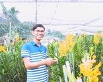 Bạn trẻ trồng lan bán tết được hàng trăm triệu đồng