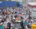 Kẹt xe kinh hoàng ở Nam Sài Gòn
