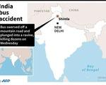 Ấn Độ: Xe buýt rơi xuống vực sâu, 44 người chết