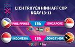 Lịch truyền hình AFF Cup ngày 13-11