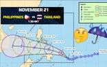 Bão Toraji đe dọa trận Philippines - Thái Lan