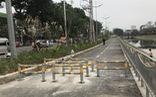 Chống xe máy vào đường người đi bộ, Hà Nội dựng ba lớp rào chắn