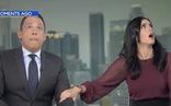 Video người dẫn chương trình chui xuống gầm bàn vì động đất ở California