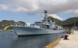 Uy lực của khinh hạm Anh HMS Richmond đang thăm Việt Nam