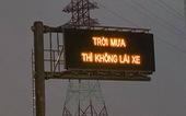 'Trời mưa thì không lái xe': Đơn vị quản lý cao tốc xin lỗi người đi đường