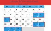 Giỗ tổ Hùng Vương nghỉ 3 ngày, 30-4 và 1-5 nghỉ 5 ngày