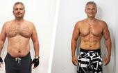 Cai rượu ăn rau, người đàn ông giảm 27kg sau 16 tuần