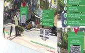 Ấn Độ dựng gương trên phố để chống nạn tiểu bậy