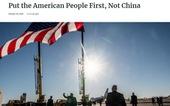 Nhà Trắng: 'Hãy đặt dân Mỹ lên trên hết, chứ không phải Trung Quốc'
