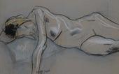 Ngắm ký họa khỏa thân người nước ngoài của họa sĩ Nguyễn Dương Đính