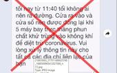 TP.HCM bác tin đồn thất thiệt về máy bay phun khử khuẩn vào đêm nay