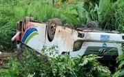 14 người Việt bị thương trong vụ lật xe khách ở Lào đã về nước