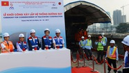 Khởi công xây lắp đường ray tuyến metro Bến Thành - Suối Tiên
