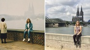 Nữ du khách quay lại châu Âu chụp ảnh đúng nơi từng đến 30 năm trước