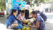 Bạn trẻ Nghệ An giải cứu bưởi Hà Tĩnh