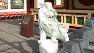 Sẽ di dời 4 sư tử đá ở công viên và đình Nguyễn Trung Trực