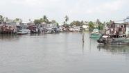 Mực nước đầu nguồn sông Cửu Long tăng do triều cường