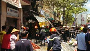Cháy cửa hàng hoa vải trên đường Tháp Mười