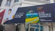 Tấm pano quảng bá Việt Nam ở Cannes có hình Lý Nhã Kỳ?