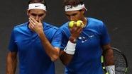 Federer và Nadal hạnh phúc trong lần đầu tiên đánh cặp