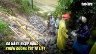 Đà Nẵng ngập nặng khiến đường sắt tê liệt