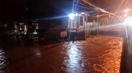 Mưa lớn gây ngập lụt nhiều nơi tại Bình Phước