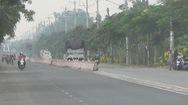 Doanh nghiệp tự tháo gỡ dãy phân cách ở đường tỉnh 943 vượt giấy phép cấp