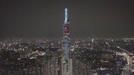 Tòa nhà cao nhất VN phủ kín màu xanh, kêu gọi bảo vệ quyền trẻ em