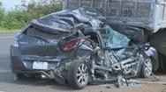Tai nạn giao thông liên hoàn tại Trạm thu phí BOT, 2 vợ chồng bị thương nặng