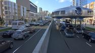 Mô hình xe bus tương lai 'chấp hết' kẹt xe, ách tắc đường