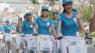 Thí sinh Miss World Việt Nam nhiệt tình tham gia đạp xe vì môi trường