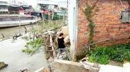 3 căn nhà dân ở Tiền Giang sạt lở rơi xuống sông trong đêm