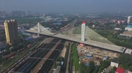 Quá trình lắp ráp cây cầu dây văng nặng nhất thế giới