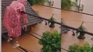 Video: Đi dây điện từ mái nhà này sang mái nhà khác để tránh lũ