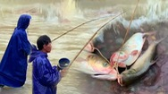 Video: Săn cá 'khủng' dưới chân hồ Kẻ Gỗ