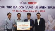 Tiếp nhận thêm 380 triệu đồng cứu trợ đồng bào miền Trung