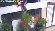 Video: Leo rào trộm cây kiểng đưa qua tường, sau đó phát hiện 'cửa không khóa'