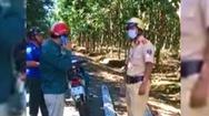 Video: Giám đốc nông trường cao su chống hiệu lệnh của CSGT
