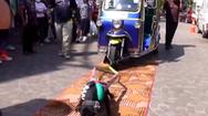 Video: Bắt chó pitbull chật vật kéo xe tuk tuk chở 9 người gây phẫn nộ