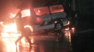 Video: Xe cấp cứu bốc cháy dữ dội, 7 người bị thương nặng